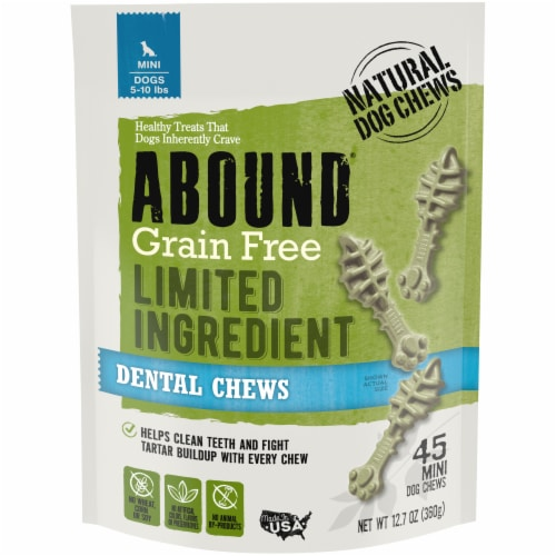 ABOUND® Grain Free Limited Ingredient Dental Chews Perspective: front