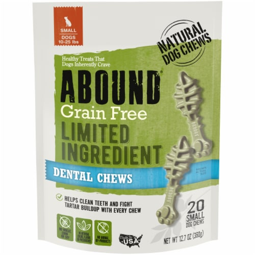 Abound® Grain Free Limited Ingredient Small Dog Dental Chews Perspective: front