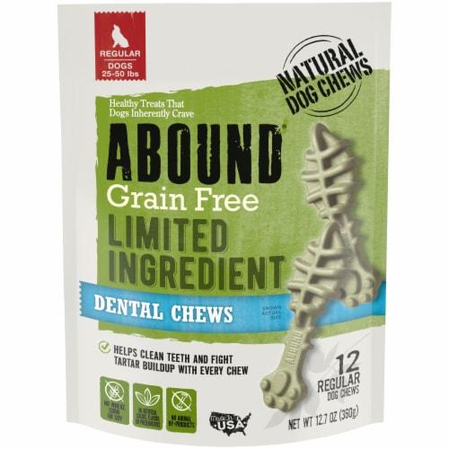 Abound® Grain Free Limited Ingredient Regular Dental Dog Chews Perspective: front