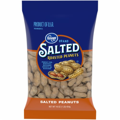 Kroger® Salted Roasted In-Shell Peanuts Perspective: front