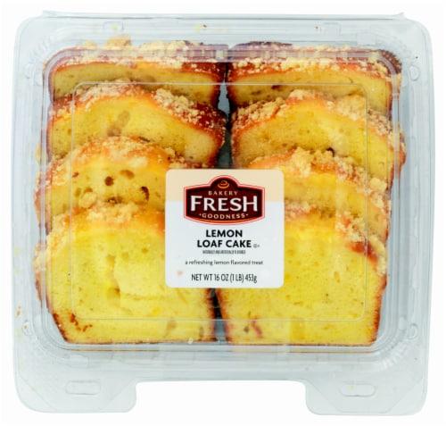 Bakery Fresh Goodness Lemon Sliced Loaf Cake Perspective: front