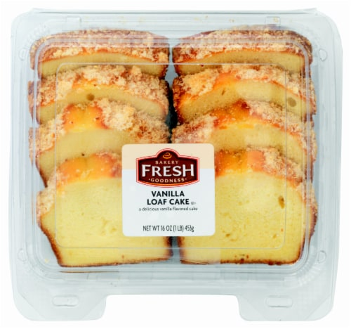 Bakery Fresh Goodness Vanilla Sliced Loaf Cake Perspective: front