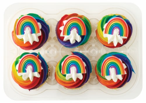 Bakery Fresh Goodness Pride Cupcakes Perspective: front