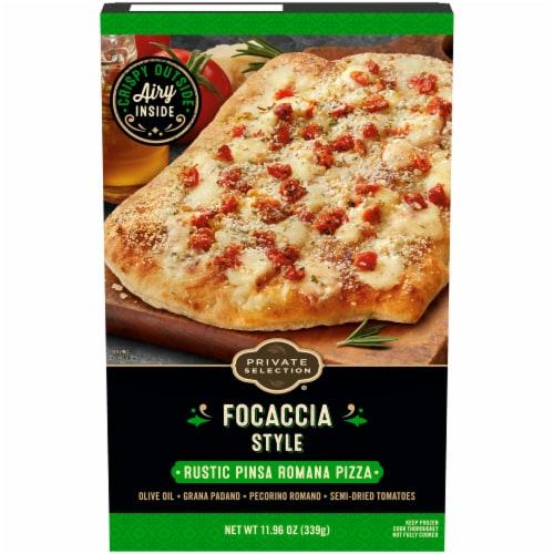 Private Selection Focaccia Style Rustic Pinsa Romana Frozen Pizza Perspective: front