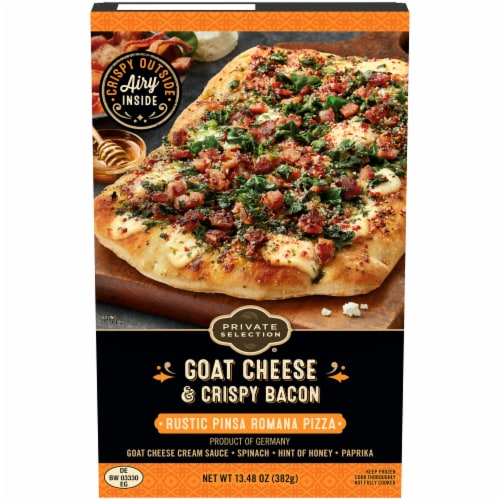 Private Selection® Goat Cheese & Crispy Bacon Rustic Pinsa Romana Pizza Perspective: front
