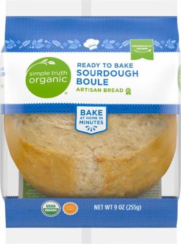 Simple Truth Organic® Ready to Bake Sourdough Boule Artisan Bread Perspective: front