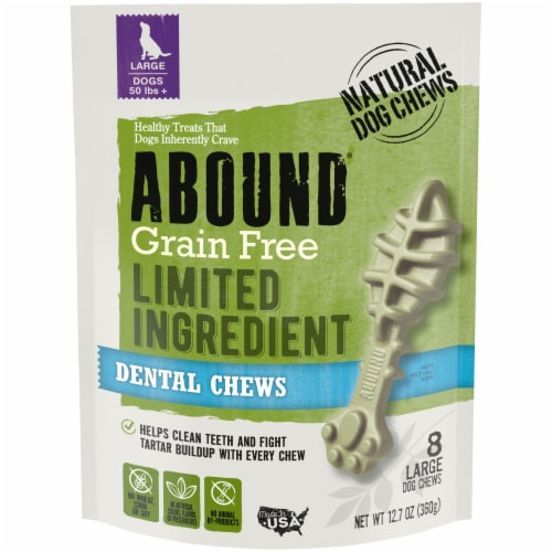 Abound® Grain Free Limited Ingredient Large Dental Dog Chews Perspective: front