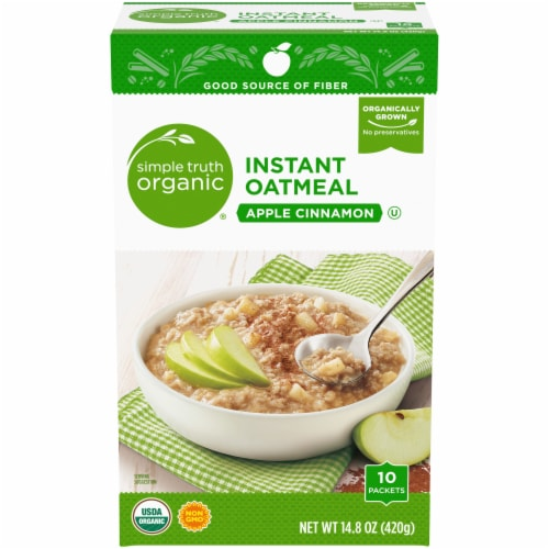 Simple Truth Organic® Apple Cinnamon Instant Oatmeal Packets Perspective: front