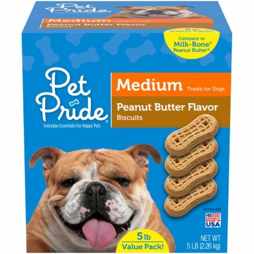 Pet Pride® Peanut Butter Flavor Medium Dog Treats Perspective: front