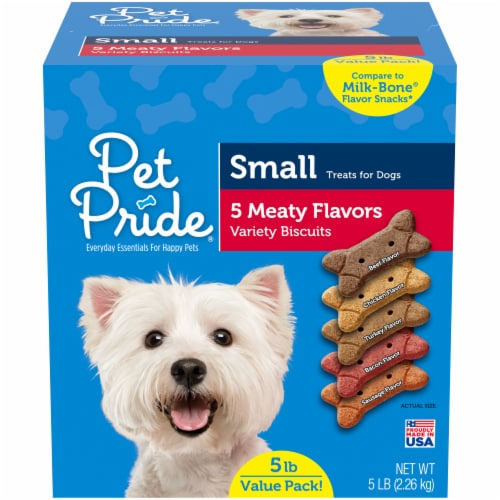 Pet Pride® Meaty Flavors Small Dog Treats Value Pack Perspective: front