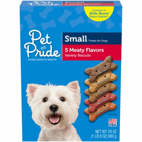 Pet Pride® Meaty Flavors Variety Small Dog Treats Perspective: front