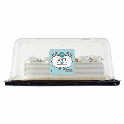 Bakery Fresh Goodness Rosette Border White Sheet Cake Perspective: front