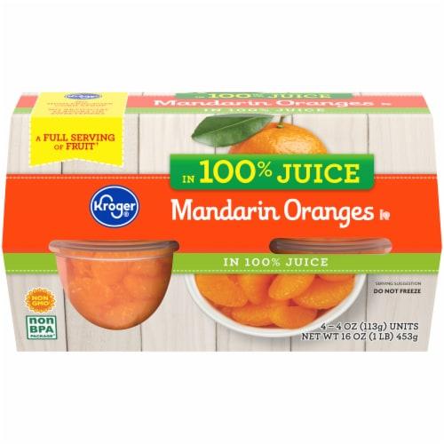 Kroger® Mandarin Oranges in Juice Cups Perspective: front
