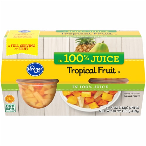Kroger® Tropical Fruit Cups Perspective: front