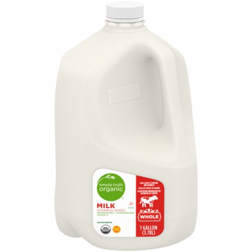 Simple Truth Organic® Whole Milk with Vitamin D Perspective: front