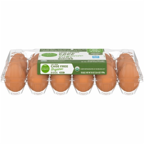 Simple Truth Organic Large Brown Grade A Eggs Perspective: front