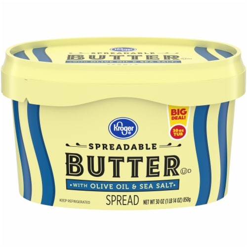 Kroger® Spreadable Butter with Olive Oil Perspective: front