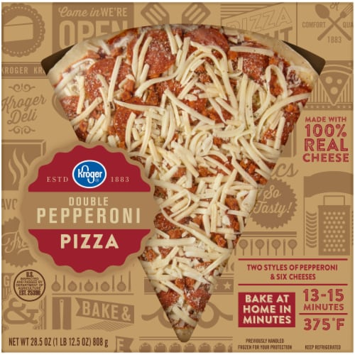 Kroger Double Pepperoni Pizza Perspective: front