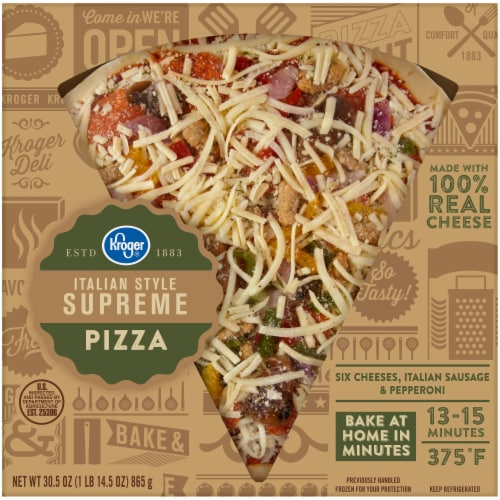 Kroger® Italian Style Supreme Pizza Perspective: front
