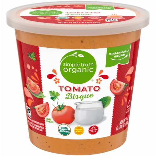 Simple Truth Organic® Gluten Free Tomato Bisque Soup Perspective: front