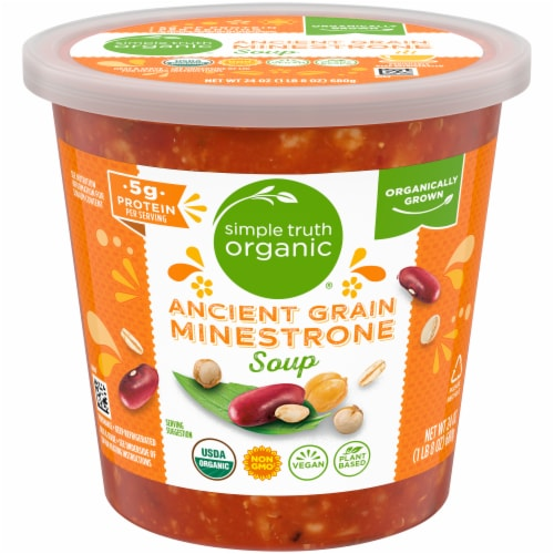 Simple Truth Organic® Ancient Grain Minestrone Soup Perspective: front