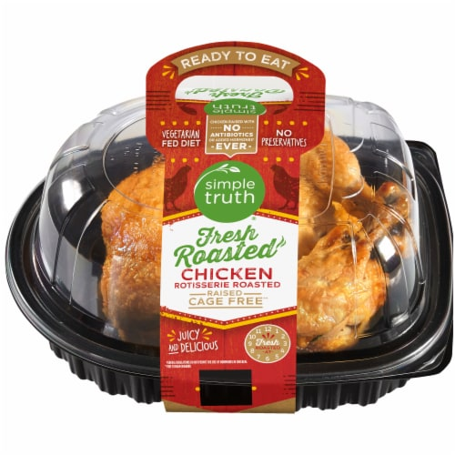 Simple Truth® Deli Whole Hot Rotisserie Chicken (NOT AVAILABLE BEFORE 11:00 am DAILY) Perspective: front