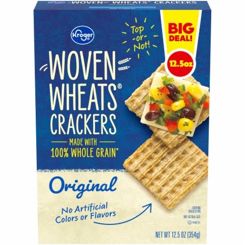 Kroger® Woven Wheats® Original Crackers Perspective: front