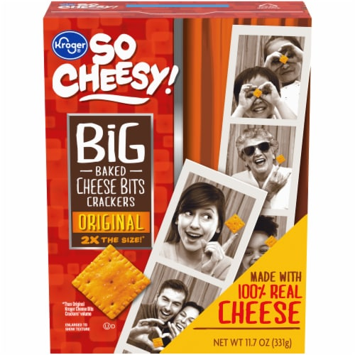 Kroger® So Cheesy! Original Big Baked Cheese Bits Crackers Perspective: front