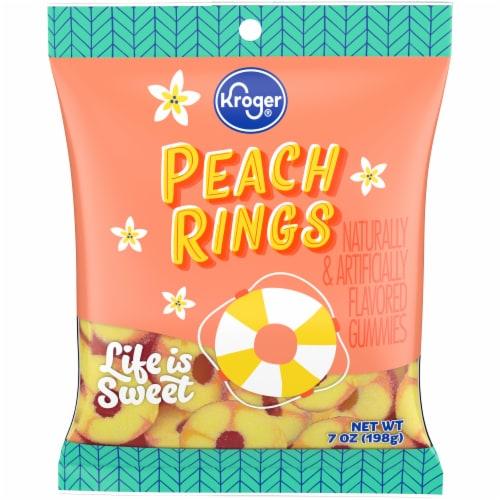 Kroger® Peach Rings Gummies Perspective: front
