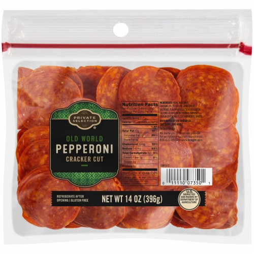 Private Selection® Old World Cracker Cut Pepperoni Perspective: front
