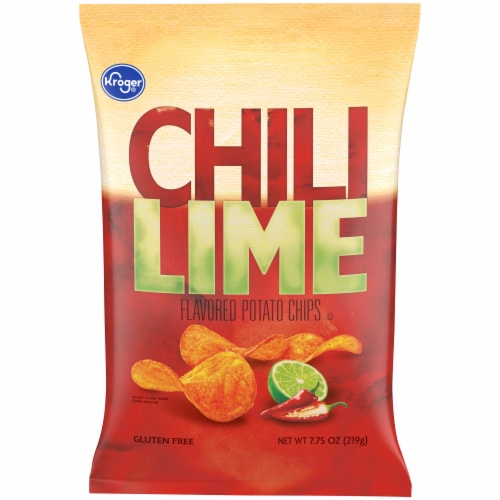 Kroger® Chili Lime Potato Chips Perspective: front