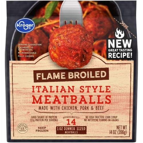 Kroger® Flame Broiled Italian Style Meatballs Perspective: front