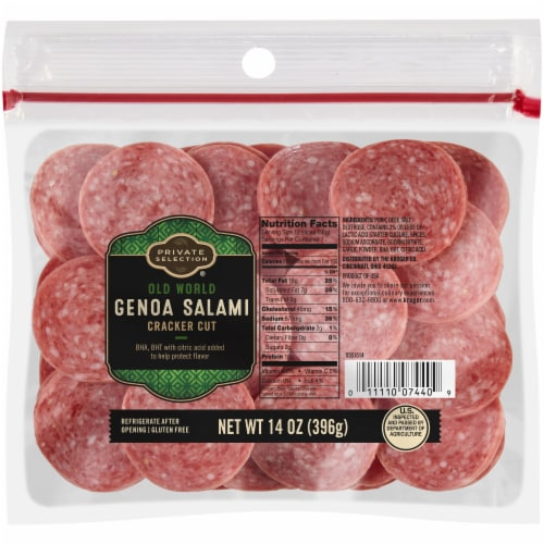 Private Selection® Old World Cracker Cut Genoa Salami Perspective: front