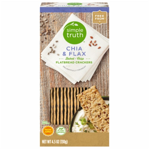 Simple Truth® Chia & Flax Flatbread Crackers Perspective: front