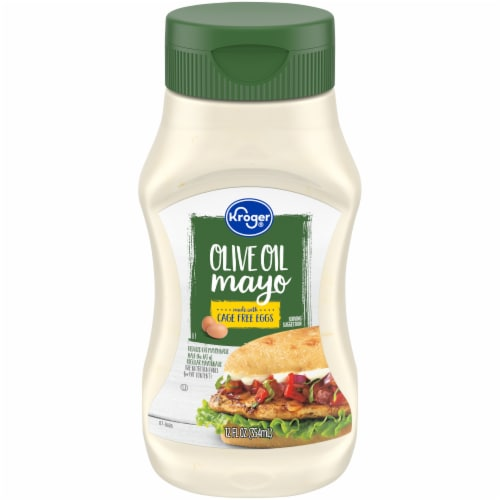 Kroger Mayonnaise with Olive Oil Squeeze Dressing Perspective: front