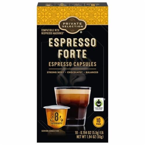Private Selection® Espresso Forte Capsules Perspective: front