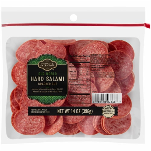Private Selection™ Old World Cracker Cut Hard Salami Perspective: front