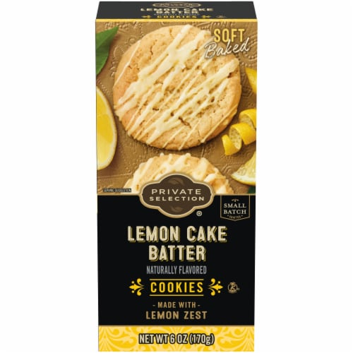Private Selection® Cake Batter Cookies - Lemon Perspective: front