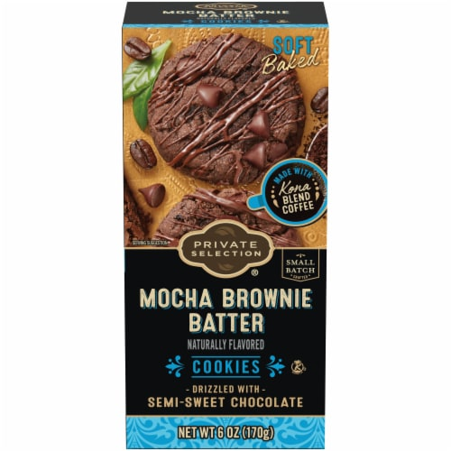 Private Selection® Mocha Brownie Batter Cookies Perspective: front