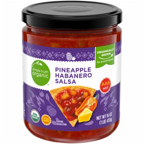 Simple Truth Organic® Pineapple Habanero Salsa Perspective: front