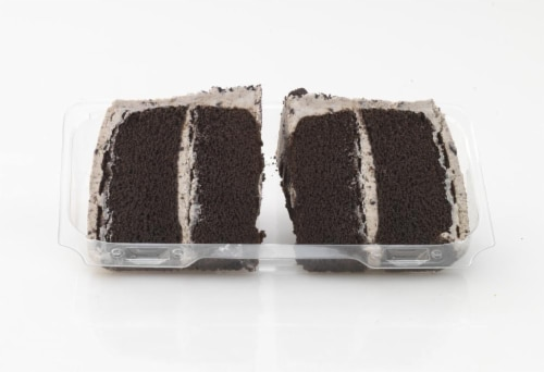 Bakery Fresh Goodness Cookies & Creme Cake Slices Perspective: front