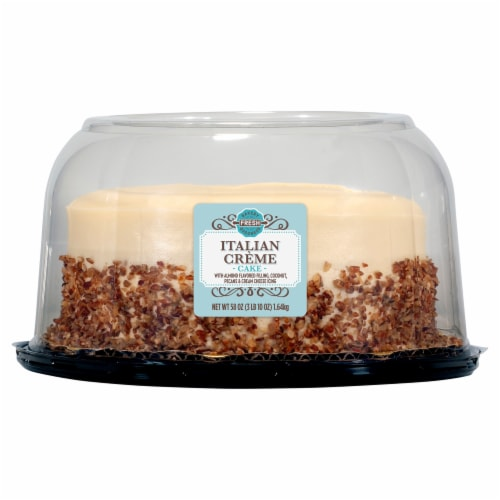Bakery Fresh Goodness Italian Cream Double Layer Cake Perspective: front