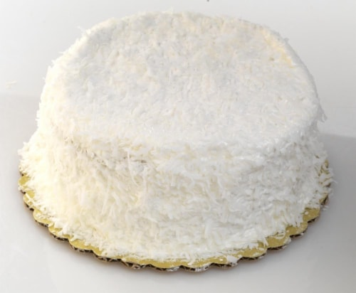 Bakery Fresh Goodness Yellow Coconut Double Layer Cake Perspective: front