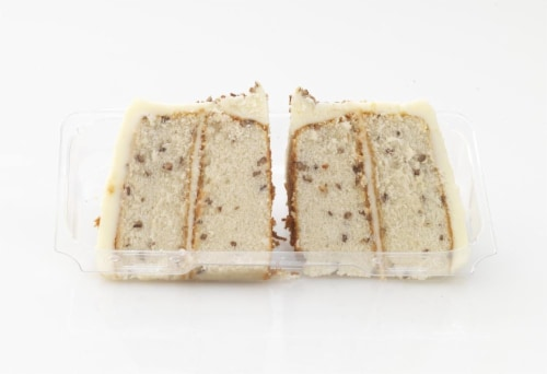 Bakery Fresh Goodness Italian Creme Cake Slices 2 Count Perspective: front