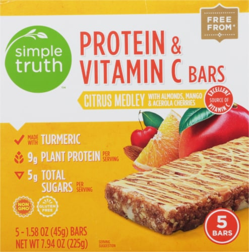 Simple Truth™ Citrus Medley Protien & Vitamin C Bars Perspective: front