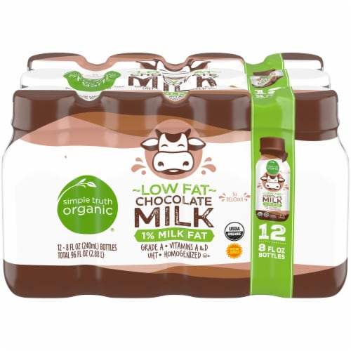 Simple Truth Organic® Low Fat Chocolate Milk Perspective: front