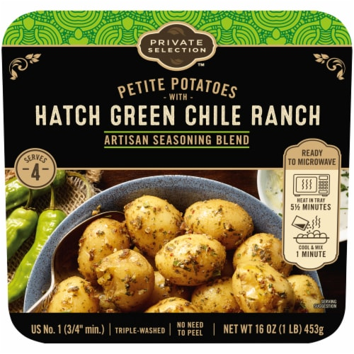 Private Selection™ Hatch Green Chile Ranch Artisan Seasoning Blend Petite Potatoes Perspective: front