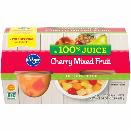 Kroger® Cherry Mixed Fruit in Juice Perspective: front