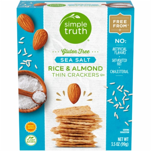 Simple Truth® Gluten Free Sea Salt Rice & Almond Crackers Perspective: front