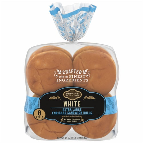 Private Selection® White Extra Large Enriched Sandwich Rolls Perspective: front